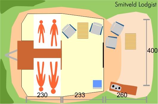 Smitveld Lodgist tenttrailer plattegrond