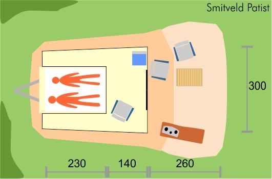 Smitveld Patist tenttrailer plattegrond vouwwagen smitveld
