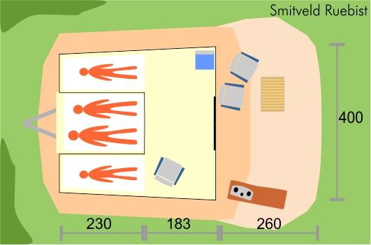 Smitveld ruebist vouwwagen plattegrond
